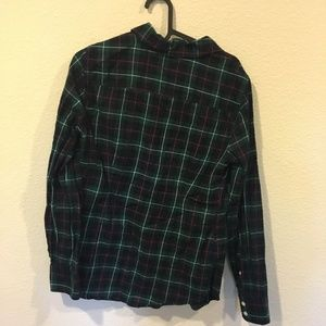 J. Crew Tops - J. Crew green plaid button down top